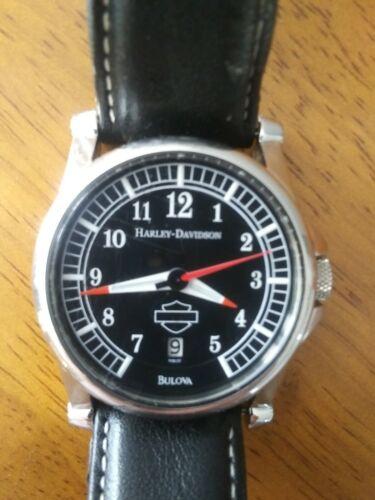 Mens Harley Davidson Bulova wristwatch used