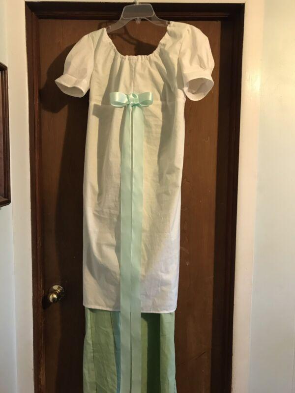 custom jane austen regency 1812 Colonial  Empire waist dress Cotton