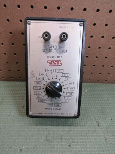 Vintage EICO Capacitor Substution Box Model 1120