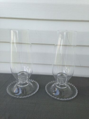 Pr. of Imperial Candlewick Hurricane Lamps (400/79)