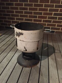 Portable rustic outdoor fire drum fire pit