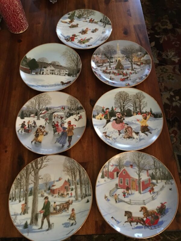 Charlotte Sternberg Collector Plates Set of 7