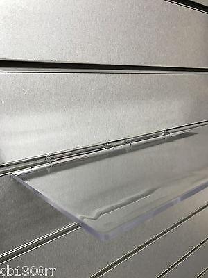 10 X Slatwall Shelves Perspex 12 X 6 Display Shelf Slatboard Shelving Clear