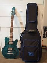 Electric Guitar: Indie Shape Ocean Blue (incl. strap and case) Buddina Maroochydore Area Preview