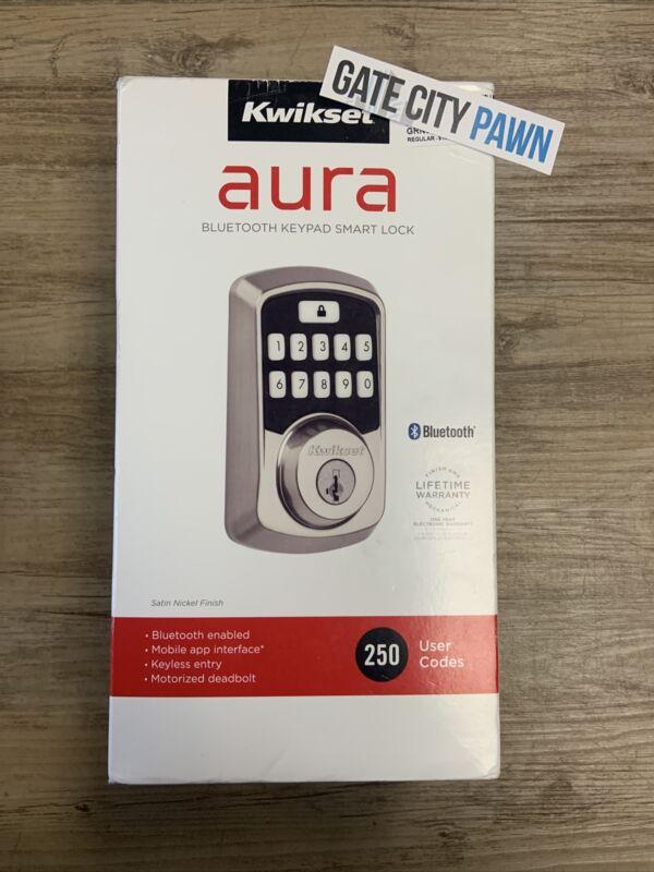 Kwikset 99420-001Aura Bluetooth Programmable Keypad -Satin Nickel- Open Box New