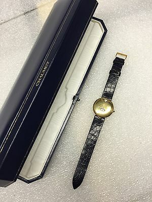 CHAUMET 11A-201 JUMP HOUR 18K YELLOW GOLD ORIGINAL DIAL 1990'S