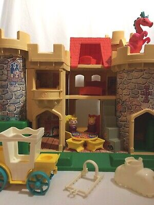 Vintage Fisher Price Little People Castle #993 Dragon with Ears Harness Saddle