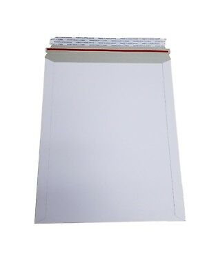 100 - 9x11.5 9x11 12 Stay Flat Rigid Mailer Cardboard White Envelope Self Seal