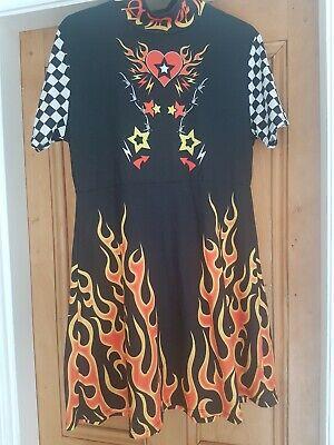 Jaded Fire Print Dress