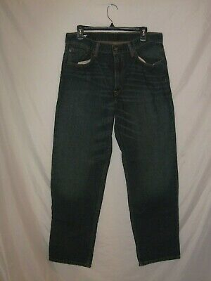 LEVIS 550 - Naturally Distressed Straight Blue Jeans - Mens 34 x 32