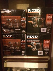 18V RIDGID Compact Drill and Impact Driver Combo Set