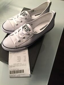 Women's white converse shoes