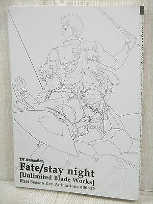 FATE STAY NIGHT Unlimited Blade Works 1st Season 06-12 Key Animation Art Book *