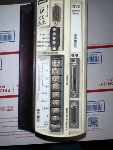 Parker GV6-U6E Gemini Servo Motor Drive/Amplifier Out used