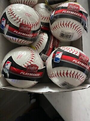 NEW Lot of 4 Playmaker by Rawlings Official League Baseballs MLB Size and Weight