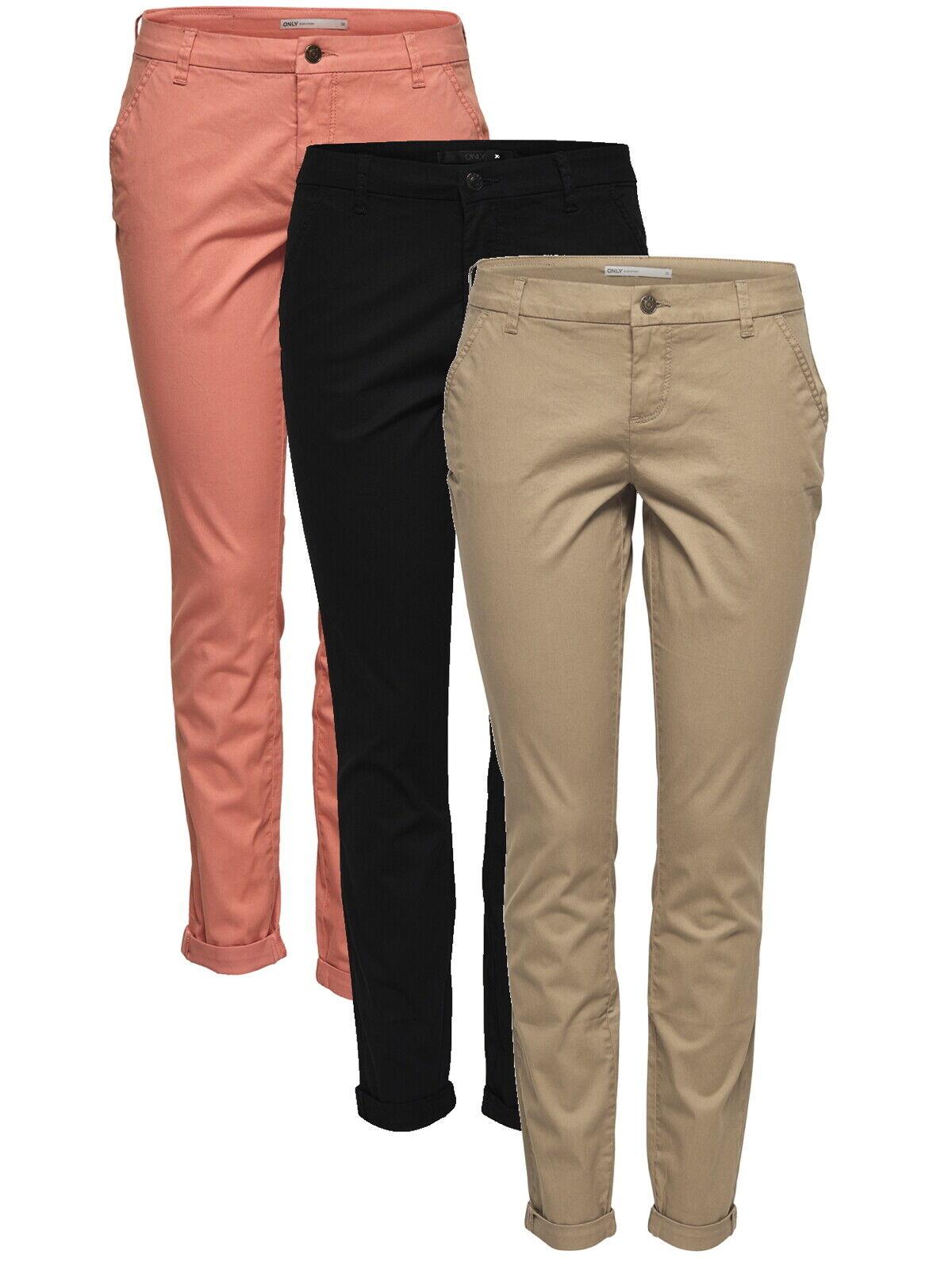 Only Damen Hose onlParis Chino-Hose 15133544 Stoff-Pant gr.34-42 modisch elegant