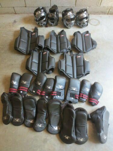 ATA Taekwondo Karate Martial Arts Sparring Gear Equipment Lot Black