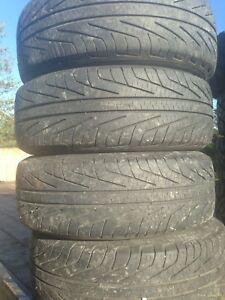 195/70r14 Michelin hydroedge all season tires on rims