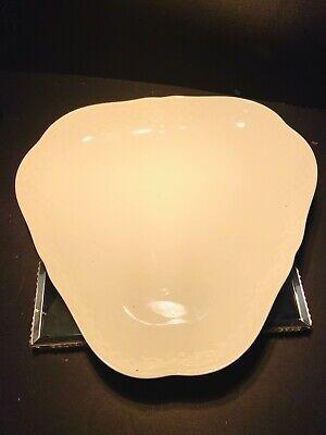 B&G Kjobenhavn Denmark Cream Porcelain Triangle Embossed Bowl