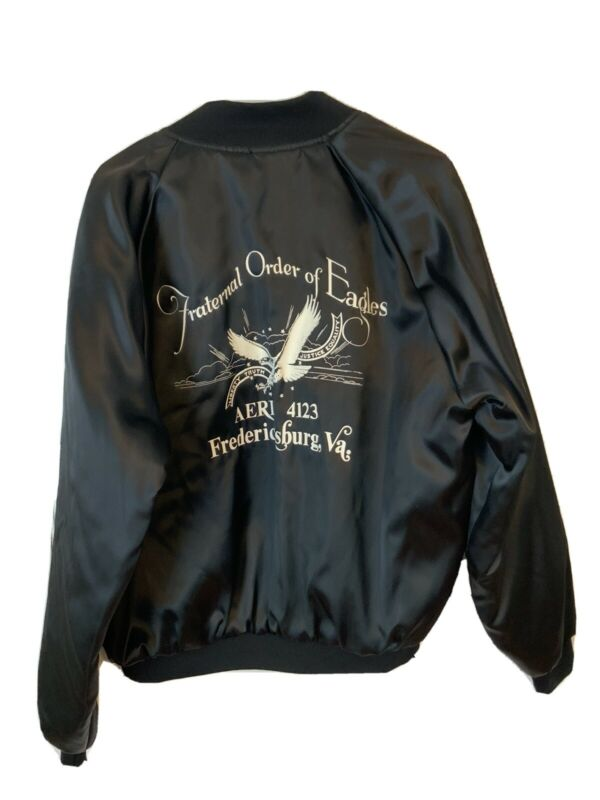 Vintage Fraternal Order Of Eagles Jacket Size Large Riders Motorcycle Virginia