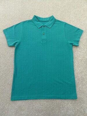 TU School Jade Green Polo Shirt Size 11 (10-11 Years) BNIP