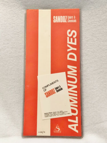 VINTAGE SANDOZ ALUMINUM DYES COLOR GUIDE