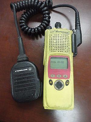 Motorola Xts5000r M2 7800 P25 Adp Fm H18ucf9pw6an Radio W Mic.