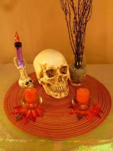 Halloween Skeleton SKULL Candle TableTop Arrangement CENTERPIECE Decoration PROP