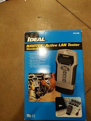 Ideal 33-846 Navitek Active Lan Tester Cable Tester Complete Kit Brand New