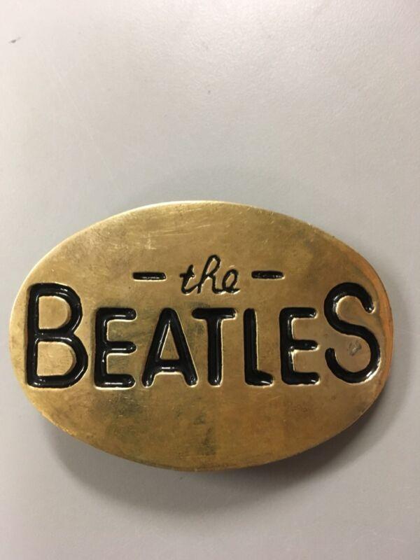 THE BEATLES VINTAGE 1970s SOLID BRASS BELT BUCKLE