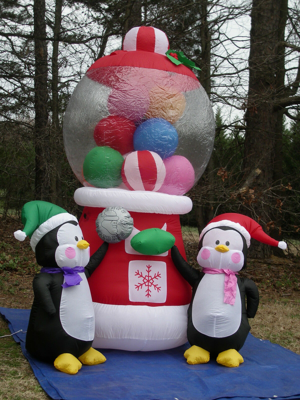 6' Christmas Gumball Machine Animated W/blinking Lights Airblown Inflatable