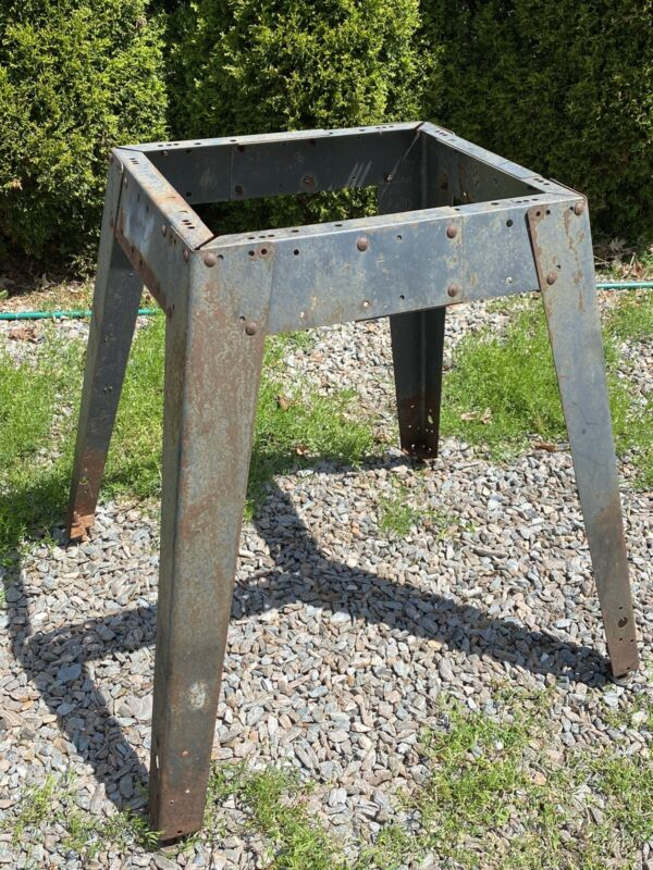 "Vintage Steel Base, Legs, 33""H, Stool Height, Adjustable ~ Industrial, Workshop"