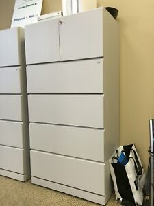 Large heavy duty filing cabinet (with key to lock)