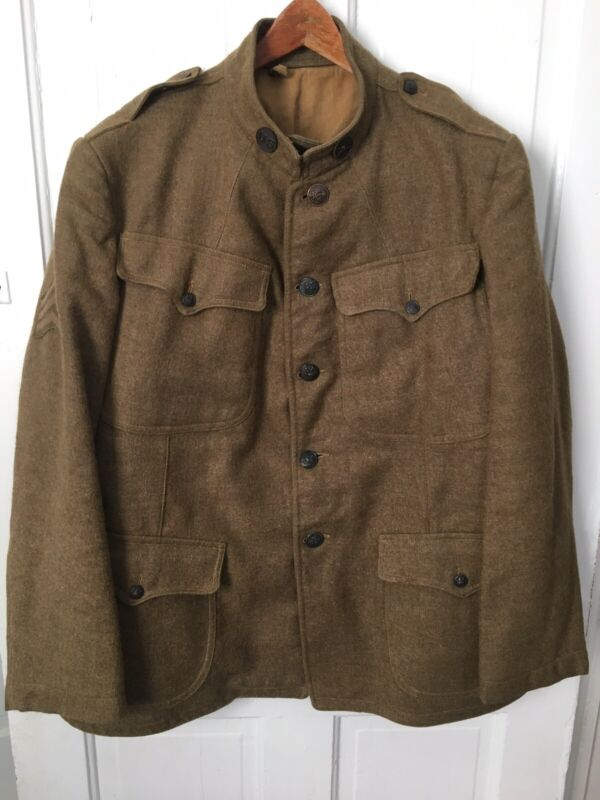 WWI US Army Enlisted Tunic LARGE SIZE !