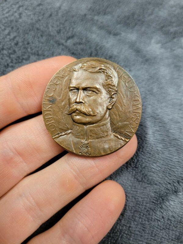 WW1 Lord Kitchener Bronze Medal Field Marshall Rare J.P Legastelois Detailed...