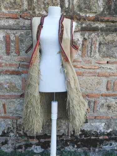Handmade antique long ethnic vest from struski Drimkol, vest- resacka