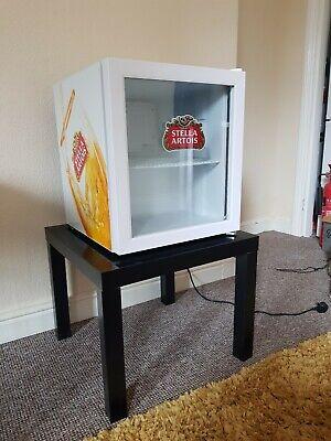 Husky Stella Artois 46L Table Top/Mini Fridge with black table