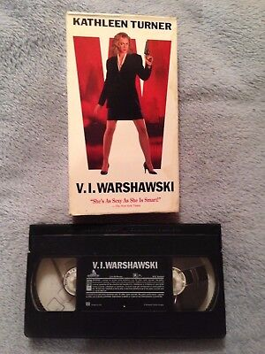 V.I. Warshawski (1991) - VHS Tape - Action / Crime / Comedy - Kathleen Turner