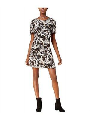 Kensie Womens Animal Print A-line Sheath Dress boo S
