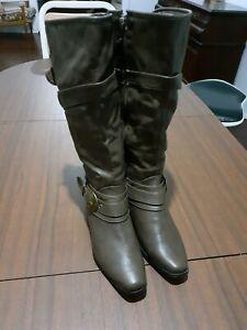 Below knee brown boots size 7