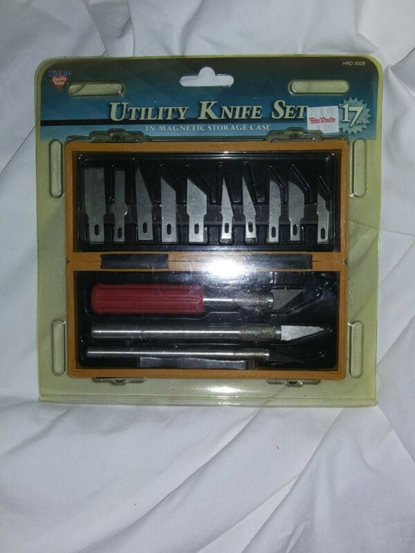 17 pcs Utility Knife Set- Magnetic- X-acto, Razor, Hobby, Shop, Cutter, Ex-acto