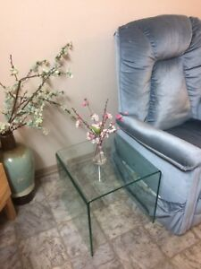 Glass side pieces/night stand