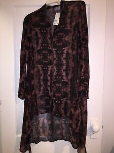 Long sheer top H&M size 2