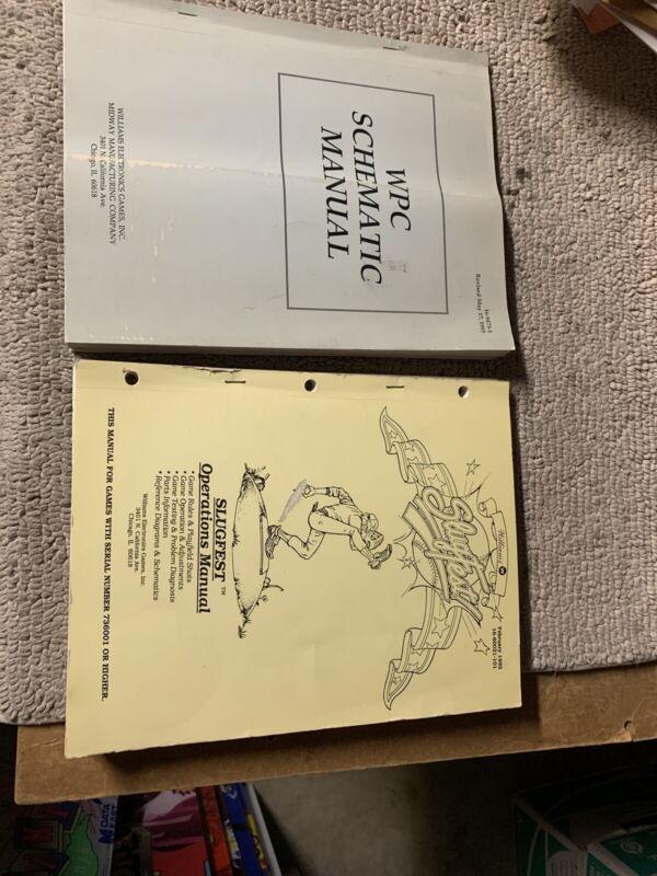 Original Slugfest Slug Fest Set Williams pinball MACHINE Manual