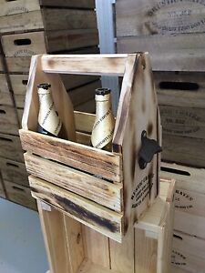 Wooden beer caddie & wine boxes by Rustic Crates Burleigh Heads Gold Coast South Preview