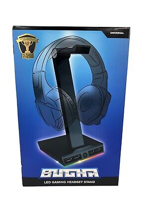LED Gaming Headset Stand With 4 USB Ports, Bugha, Brand NEW