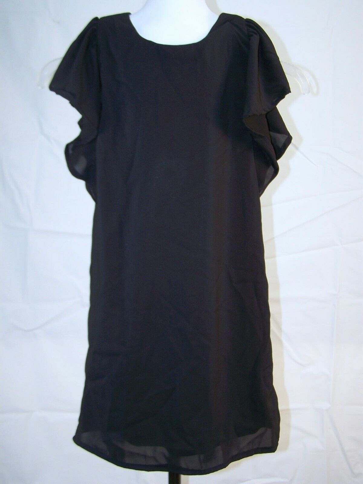 New Young Girl Laundry By Segal Los Angeles Dress Black Sleeveless size 12 large