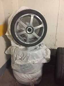 4 Mags Enkei Racing with tiers ** 450$ Ferm **