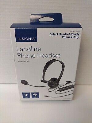 Insignia NS-MCHMRJ9P2 Landline Phone Hands-Free Headset - Black