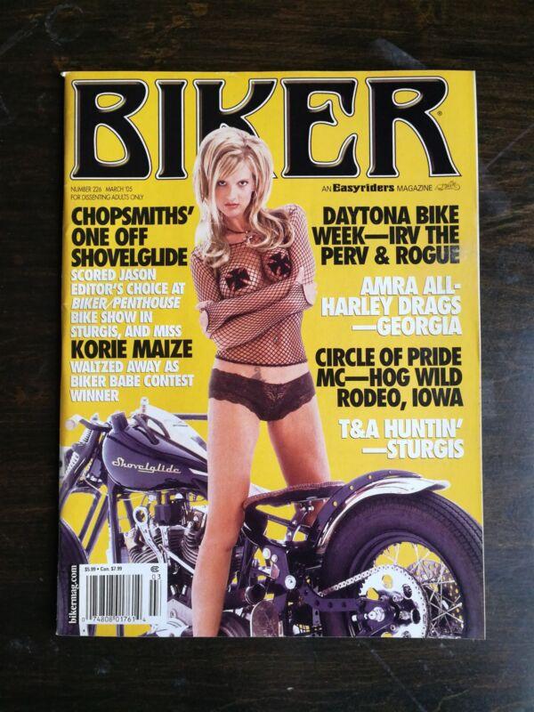 Biker Magazine March 2005 #226 - Shovelglide - Daytona - David Mann Centerspread